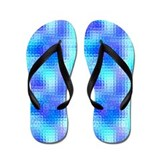 Light Blue Textured Glass Flip Flops