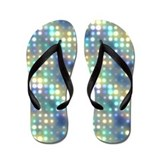 Pastel Neon Lights Abstract Flip Flops