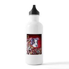 DiaLos Muertos dog Water Bottle