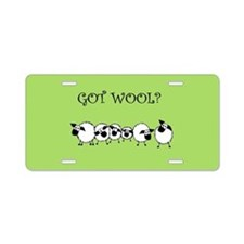 GOT WOOL? Aluminum License Plate