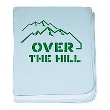 Over the hill mountain range design baby blanket