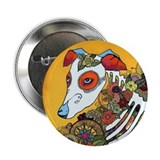 "Dia Los Muertos, day of the dead, dog, 2.25"" Butto"