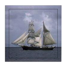 Sailboat Tile Coaster