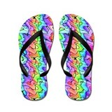 Rainbow of Squiggles Flip Flops