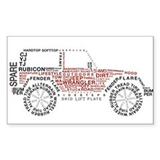 Jeep Wrangler Words Decal