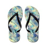 Tempered Pastel Rainbow Glass Abstract Flip Flops