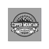 "Copper Mountain Grey Square Sticker 3"" x 3"""
