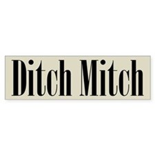 Ditch Mitch Bumper Sticker - Black on Gray