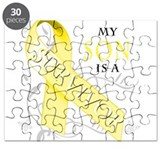My Son is a Survivor (yellow) Puzzle