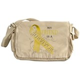 My Friend is a Survivor (yellow) Messenger Bag