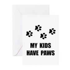 Kids Paws Greeting Cards (Pk of 10)