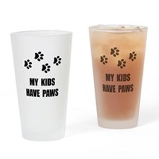 Kids Paws Drinking Glass