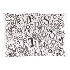 Type Art Pillow Case