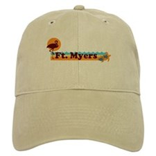 Fort Myers - Beach Design. Baseball Cap