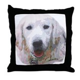 Sebastian: Handsome Golden Retriever Throw Pillow