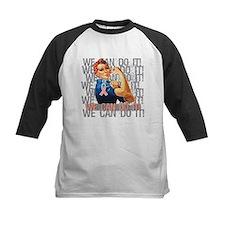 Rosie Riveter Uterine Cancer Baseball Jersey