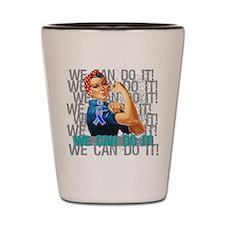 Rosie The Riveter Thyroid Cancer Shot Glass