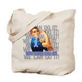 Rosie The Riveter Stomach Cancer Tote Bag
