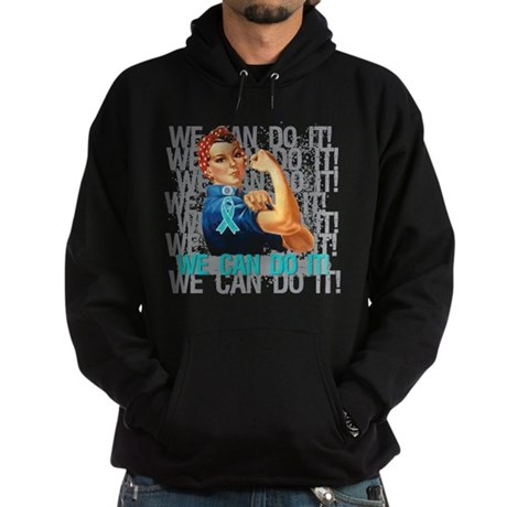 Rosie The Riveter Peritoneal Cancer Hoodie