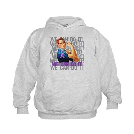 Rosie Riveter Pancreatic Cancer Hoodie