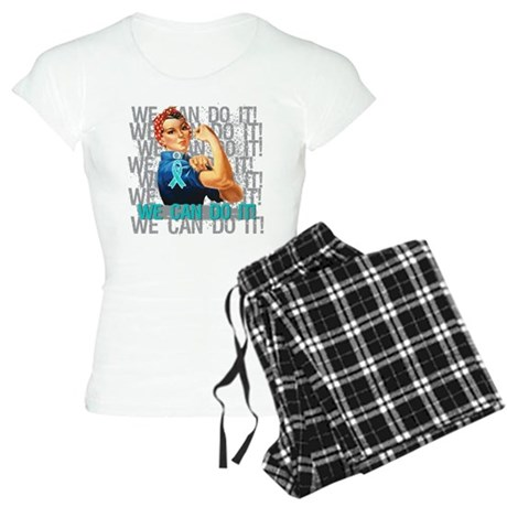 Rosie Riveter Ovarian Cancer Pajamas