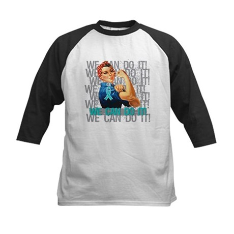 Rosie Riveter Ovarian Cancer Baseball Jersey