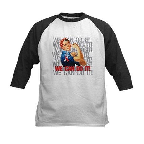 Rosie The Riveter Oral Cancer Baseball Jersey