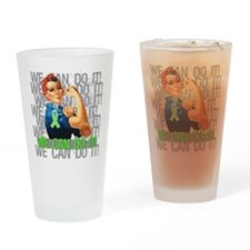 Rosie The Riveter Lymphoma Drinking Glass