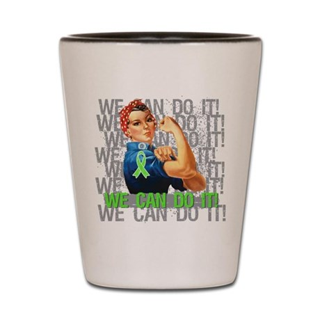 Rosie The Riveter Lymphoma Shot Glass