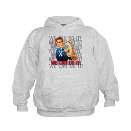 Rosie The Riveter Lung Cancer Hoodie