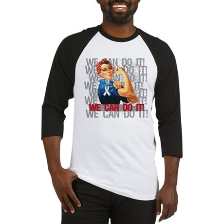 Rosie The Riveter Lung Cancer Baseball Jersey