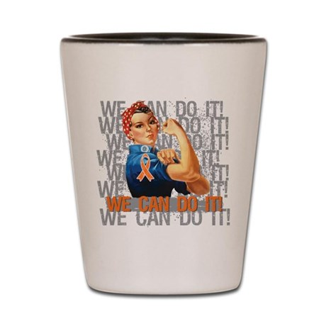 Kidney Cancer Rosie Riveter Shot Glass