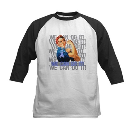 Rosie Riveter Intestinal Cancer Baseball Jersey