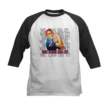 Rosie Riveter Head Neck Cancer Baseball Jersey