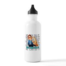 Rosie The Riveter Thyroid Cancer Water Bottle