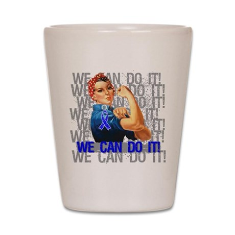 Rosie Riveter Colon Cancer Shot Glass