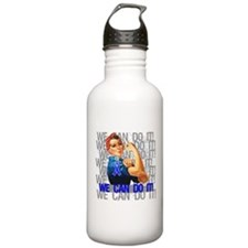 Rosie Riveter Colon Cancer Water Bottle