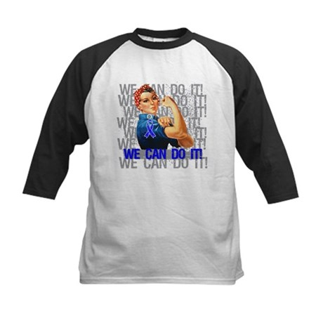 Rosie Riveter Colon Cancer Baseball Jersey