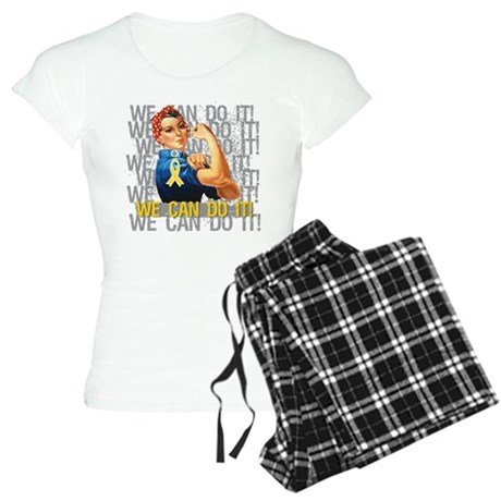 Rosie Riveter Childhood Cancer Pajamas