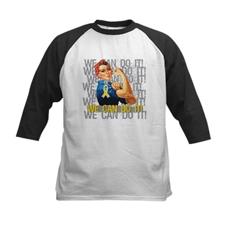 Rosie Riveter Childhood Cancer Baseball Jersey
