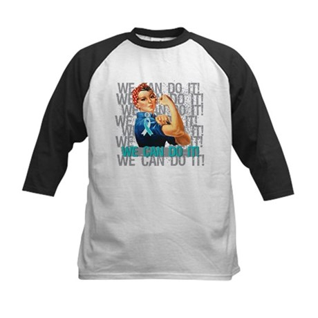 Rosie Riveter Cervical Cancer Baseball Jersey