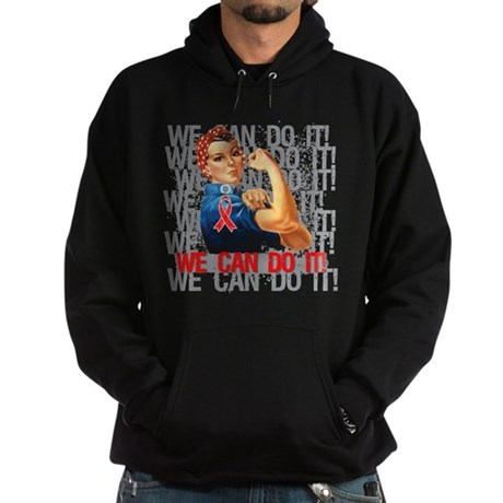 Rosie The Riveter Blood Cancer Hoodie