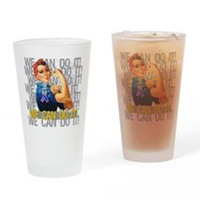 Rosie The Riveter Bladder Cancer Drinking Glass