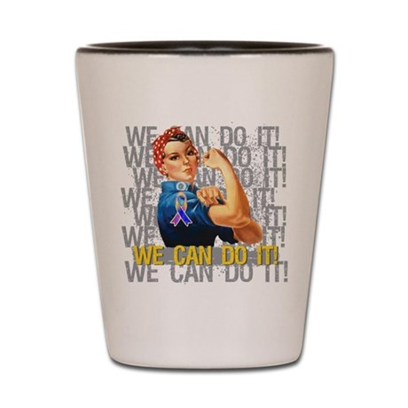 Rosie The Riveter Bladder Cancer Shot Glass