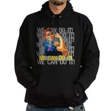 Rosie The Riveter Bladder Cancer Hoodie