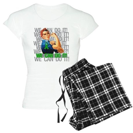 Rosie Riveter Bile Duct Cancer Pajamas