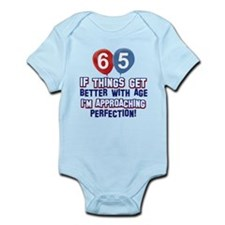 65 year Old Birthday Designs Infant Bodysuit