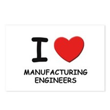 I love manufacturing engineers Postcards (Package