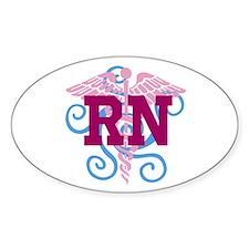 RN Swirl Bumper Stickers