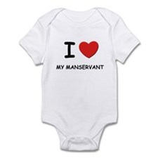 I love manservants Infant Bodysuit
